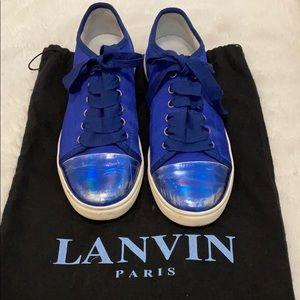 Lanvin Toe Cap Royal Blue Sneakers